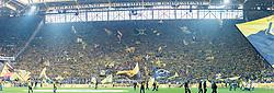 die gelbe wand during the Bundesliga match between Borussia Dortmund and Borussia Mönchengladbach on September 23, 2017 at the Signal Iduna Park stadium in Dortmund, Germany.