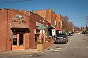 Shops along Cherry Street in Black Mountain, North Carolina.