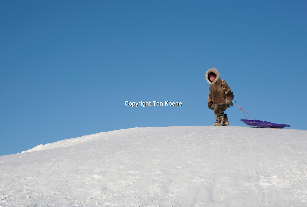 Inuit boy on the North Pole