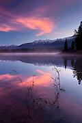 Sunrise on Rainy Lake, Montana.