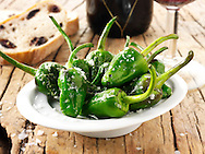 Fresh cooked patron peppers recipe