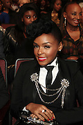 October 13, 2012- Bronx, NY: Recording Artist Janelle Monae at the Black Girls Rock! Awards presented by BET Networks and sponsored by Chevy held at the Paradise Theater on October 13, 2012 in the Bronx, New York. BLACK GIRLS ROCK! Inc. is 501(c)3 non-profit youth empowerment and mentoring organization founded by DJ Beverly Bond, established to promote the arts for young women of color, as well as to encourage dialogue and analysis of the ways women of color are portrayed in the media. (Terrence Jennings)