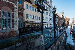 Empty streets of the Main Town of Gdansk due to the prevailing coronavirus epidemic, Poland, on March 15, 2020. Photo by Fotomag/Newspix/ABACAPRESS.COM