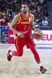 September 17, 2018 - Madrid, Spain - Jaime Fernandez of Spain during the FIBA Basketball World Cup Qualifier match Spain against Latvia at Wizink Center in Madrid, Spain. September 17, 2018. (Credit Image: © Coolmedia/NurPhoto/ZUMA Press)