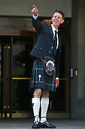 Director Alex Cox, pictured wearing a kilt, at a photocall to celebrate the world premiere of his new film entitled 'Revengers Tragedy' which debuted last night at the Edinburgh International Film Festival..