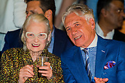Vivienne Westwood and partner attend Student Fashion Week at the Truman Brewery, London.