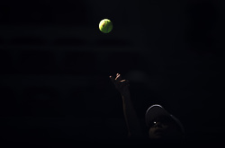 BEIJING, Oct. 6, 2018  Xu Yifan serves during the women's doubles semifinal between Gabriela Dabrowski of Canada/Xu Yifan of China and Lucie Hradecka of the Czech Republic/Ekaterina Makarova of Russia at China Open tennis tournament in Beijing, capital of China, Oct. 6, 2018. Gabriela Dabrowski/Xu Yifan won 2-0. (Credit Image: © Fei Maohua/Xinhua via ZUMA Wire)