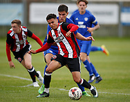 Tyler Smith of Sheffield Utd during the professional development league two match at the Bracken Moor Stadium, Stocksbridge. Picture date 21st August 2017. Picture credit should read: Simon Bellis/Sportimage