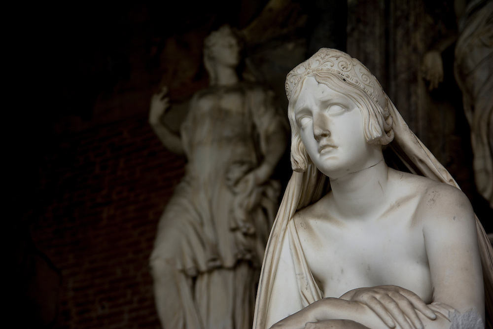 Marble statue in Pisa, Italy.