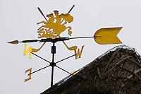 SANDWICH (GB) - Logo, windvaan. The Royal St. George's Golf Club (1887), één van de oudste en meest beroemde golfclubs in Engeland. COPYRIGHT KOEN SUYK