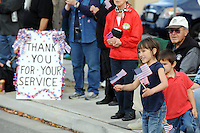 Signs of support and appreciation were plentiful during Monday's 3rd Annual Monterey County Veterans Parade in Salinas.