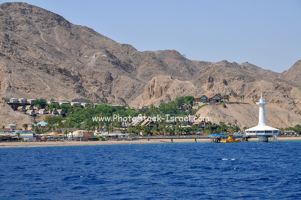 underwater observatory, Eilat, Israel as seen from the sea