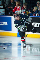 KELOWNA, CANADA - NOVEMBER 9: Mathew Barzal #13 of Team WHL warms up against the Team Russia on November 9, 2015 during game 1 of the Canada Russia Super Series at Prospera Place in Kelowna, British Columbia, Canada.  (Photo by Marissa Baecker/Western Hockey League)  *** Local Caption *** Mathew Barzal;