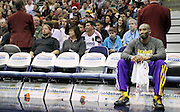 Los Angeles Lakers guard Kobe Bryant sits alone on the bench during a timeout in the first half of an NBA basketball game against the Utah Jazz, Saturday, Feb. 4, 2012, in Salt Lake City. The Jazz beat the Lakers 96-87. (AP Photo/Colin E Braley).