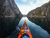 Pining for the fjords! Kayaker captures breathtaking Norwegian landscapes from the water