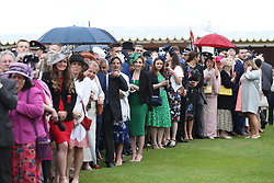 Guests during a Royal Garden Party at Buckingham Palace in London.