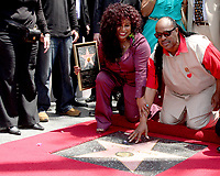 5/19/2011 Stevie Wonder joins Chaka Kahn during her Hollywood Walk of Fame ceremony