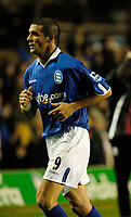 Fotball<br /> England 2004/2005<br /> Foto: SBI/Digitalsport<br /> NORWAY ONLY<br /> <br /> Birmingham City v Southampton<br /> Barclays Premiership. 02/02/2005.<br /> Birmingham's Walter Pandiani makes his debut for the Midlands club amid speculation that he is unhappy about his move to England