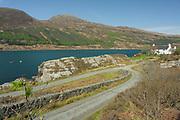 Isle of Skye, looking accross Kyle Rhea from Skye ferry access road, Glenelg, Skye & Lochalsh, Highland.