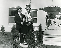 1916 Thomas Ince & William Eagleshirt at Ince Studios in Culver City