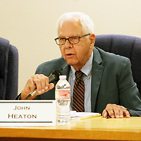 John Heaton, chair of the New Mexico Mining Commission, talked about the proposed Holtec International Consolidated Interim Storage Facility, after recusing himself from the Mount Taylor Mine hearing, July 2, seen here.