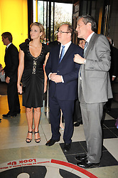 Left to right, Charlene Wittstock, His Serene Highness PRINCE ALBERT OF MONACO and MARK JONES at the opening of the Victoria & Albert Museum's latest exhibition 'Grace Kelly: Style Icon' opened by His Serene Highness Prince Albert of Monaco at the V&A on 15th April 2010.