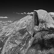 Half Dome And Clouds Rest - Glacier Point View - Yosemite - Black & White