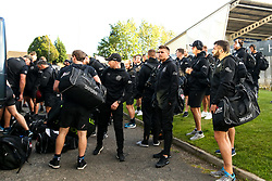 Exeter Chiefs arrive at Kingston Park ahead of their Gallagher Premiership fixture against Newcastle Falcons- Mandatory by-line: Robbie Stephenson/JMP - 21/09/2018 - RUGBY - Kingston Park Stadium - Newcastle upon Tyne, England - Leicester Tigers v Exeter Chiefs - Gallagher Premiership