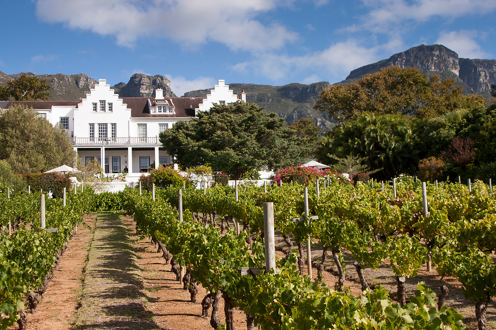 The Cellars-Hohenort. Sitting on the back of Table Mountain, as well as a lovely place to base yourself to explore the region, this is a charming spot to enjoy the food and wine of the Cape in a working vineyard, not far from the amazing Kirstenbosch National Botanical Gardens