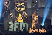 De 3FM Awards 2014 in de Gashouder, Amsterdam.<br /> <br /> Op de foto: Coen Swijnenberg en Sander Lantinga met Paul Stoel