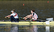 Caversham  Great Britain.<br /> Right. Karen BENNETT and Melanie WILSON.<br /> 2016 GBR Rowing Team Olympic Trials GBR Rowing Training Centre, Nr Reading  England.<br /> <br /> Tuesday  22/03/2016 <br /> <br /> [Mandatory Credit; Peter Spurrier/Intersport-images]