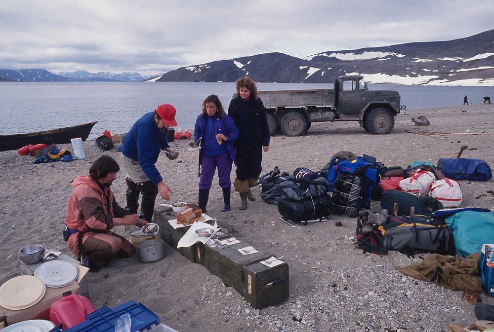 Ecotourism preparation, Inakhpyk put-in point, Chukotsk Peninsula, NE Russia