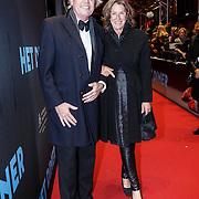 NLD/Amsterdam/20131104 - Premiere Het Diner, Derek de Lint en partner Dorith Jesserun