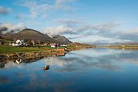 Scenic coastal landscape, Vestvågøya, Lofoten Islands, Norwy