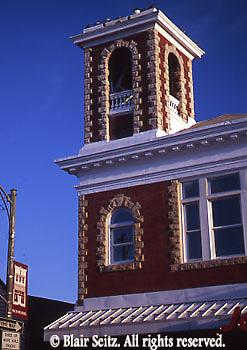 PA Historic Places, Architecture Detail, Balcony, Main St. Mechanicsburg, Cumberland Co., Pennsylvania