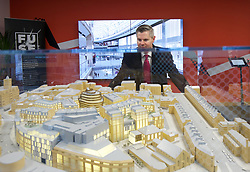 Finance Secretary Derek Mackay views a model of the St James Edinburgh site. pic copyright Terry Murden @edinburghelitemedia