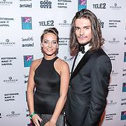 NLD/Rotterdam/20161102 - MTV Music Week Official Opening Party 2016, Sanne de Vries en Koen van Dijk