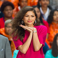 Zendaya At NBCs Today Show For International Day Of The Girl In New York City