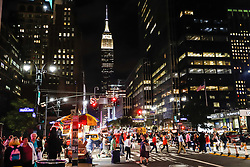 October 5, 2018 - New York, NEW YORK, UNITED STATES - View of the Empire State Building on Manhattan Island New York in the United States this Friday, 05. (Credit Image: © William Volcov/ZUMA Wire)