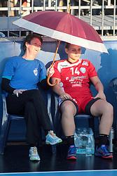 Sergeja Stefanisin of RK Krim Mercator and Aneja Beganovic of RK Krim Mercator during handball match between RK Zagorje and RK Krim Mercator of Super Cup 2016, on August 27, 2016 in SRC Marina, Portoroz / Portorose, Slovenia. Photo by Matic Klansek Velej / Sportida