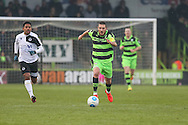 Forest Green Rovers Liam Noble(15) breaks forward during the Vanarama National League match between Forest Green Rovers and Boreham Wood at the New Lawn, Forest Green, United Kingdom on 11 February 2017. Photo by Shane Healey.