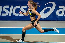 Femke Bol in action on 400 meter during the Dutch Indoor Athletics Championship on February 23, 2020 in Omnisport De Voorwaarts, Apeldoorn