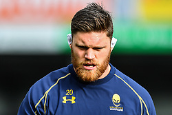 Darren Barry of Worcester Warriors during the pre match warm up - Mandatory by-line: Craig Thomas/JMP - 10/02/2018 - RUGBY - Sandy Park Stadium - Exeter, England - Exeter Chiefs v Worcester Warriors - Aviva Premiership