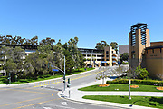 Student Center and Parking Garage on the Campus of the University of California Irvine, UCI at West Peltason and Pereira Drive