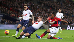 Tottenham Hotspur's Toby Alderweireld (left) and Manchester United's Anthony Martial in action