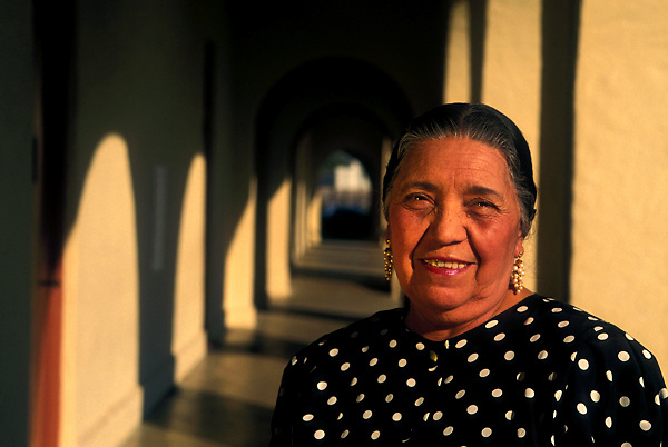 Portrait of Elderly Hispanic Woman Smiling