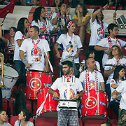 Turkey's supporters during their Istanbul CUP 2011match played Turkey between New Zeland at Abdi Ipekci Arena in Istanbul, Turkey on 24 August 2011. Photo by TURKPIX