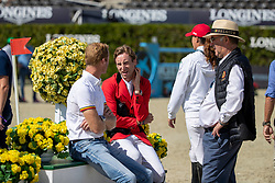 Team Belgium, Weinberg Peter, Devos Pieter, Bruynseels Niels<br /> FEI Jumping Nations Cup Final<br /> Barcelona 2019<br /> © Hippo Foto - Dirk Caremans<br />  03/10/2019