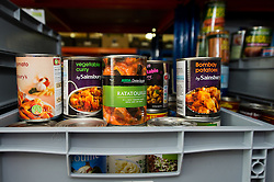One of the many foodbanks springing up around the UK to assist those who hit hard financial times. This one is based in Brentwood, Essex, an wealthy town on the edge of London. UK 2013