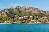 The homes and hills of Lanikai, Kailua Bay, Oahu, Hawaii